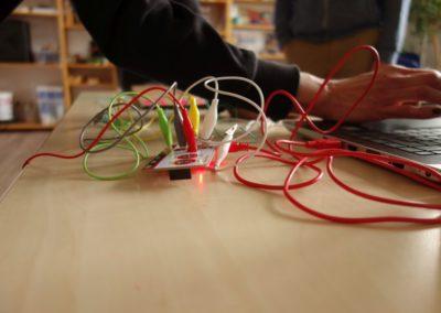 Digital-Werkstatt: hier wird programmiert.