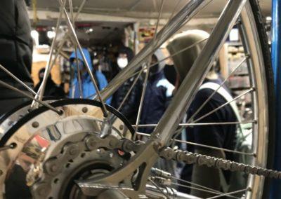 In der Fahrradwerkstatt Con-Radskeller