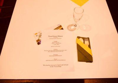 Der gedeckte Tisch beim Klima-Dinner.