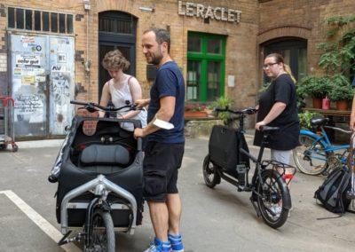 Stadttour Mobilität und Wasser: Jugendliche testen Lastenräder_1