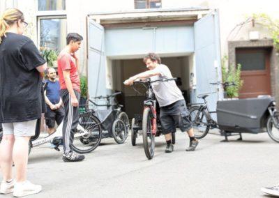 Stadttour Mobilität und Wasser_Profi erklärt die Lastenräder