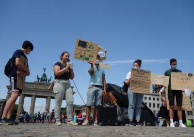 Demonstration: Forderungen der Teilnehmenden zur nachhaltigen Ernährung